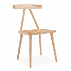 minimalist wooden dining chair in natural