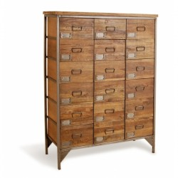 An image of Denny 18 Drawer Apothecary Cabinet