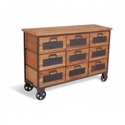 An image of Denny 9 Drawer Apothecary Cabinet