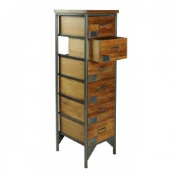 An image of Denny 6-Drawer Tall Apothecary Cabinet