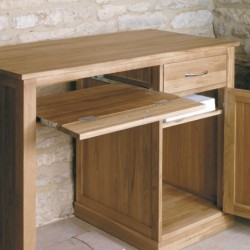 Teramo Small Oak Computer Desk Empty