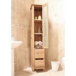 Teramo Three Shelf Oak Bathroom Cupboard