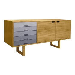 Oak/Grey Sideboard