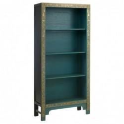 Hikina Decorated Blue Bookcase Angle