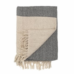Nordic style light cotton throw in natural