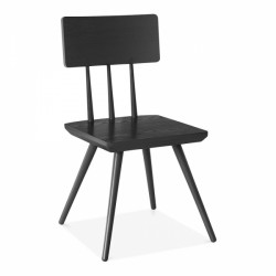 scandinavian design wooden chair in black