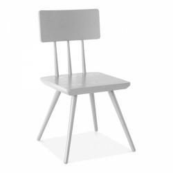 scandinavian design wooden chair in white