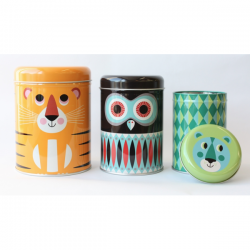 retro animal theme canisters