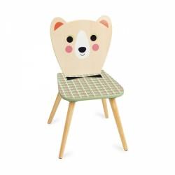 bear wooden kids chair