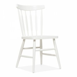 traditional wooden dining chair in white