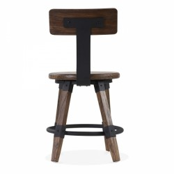 wooden chair Scandinavian design and metal fixing in brown wood 5
