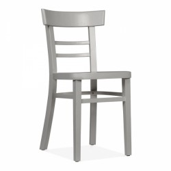 classic wooden dining chair that is finished in Grey