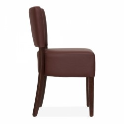 brown faux leather dining chair 3