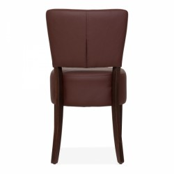 brown faux leather dining chair 5