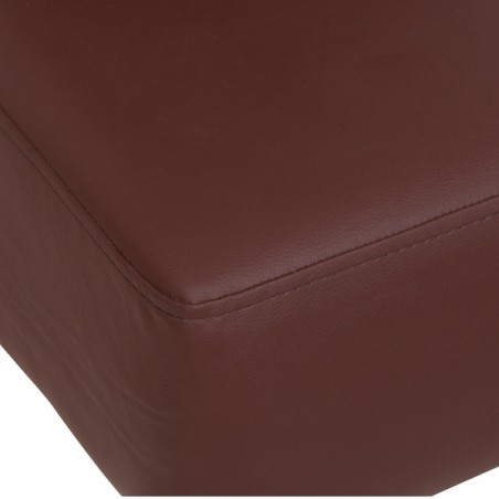 brown faux leather dining chair seat