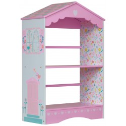 Country cottage bookcase in pastel shades. Paint finish and no sharp edges.