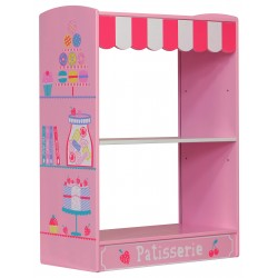 Patisserie 3 shelf bookcase in bright colourful painted finish.
