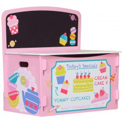 Patisserie Playbox with chalk board. Durable paint finish in patisserie design.