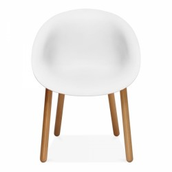 Lisa Plastic Dining Chair White Front