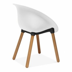 Lisa Plastic Dining Chair White Back Angle