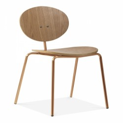 plywood chair with Oak finish in Brass