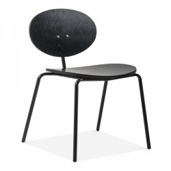 plywood chair with black Oak finish in Black