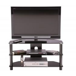 Essentials 3 Shelf Glass Tv Stand Alphason