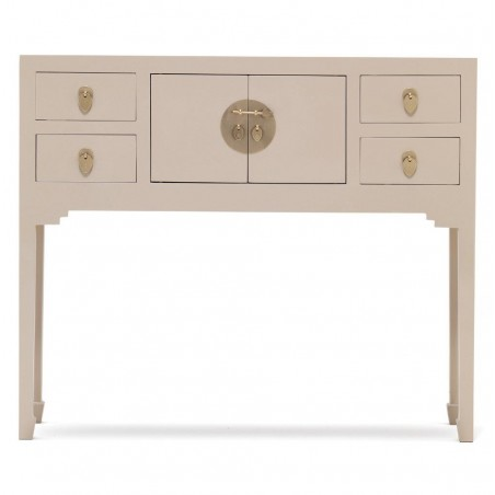 Hikina Oyster Grey Small Console Table Front