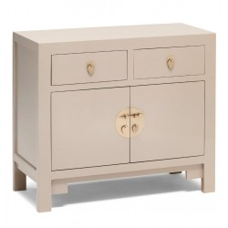 Hikina Oyster Grey Medium Sideboard Angle