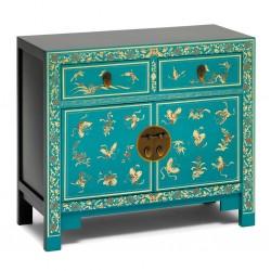 Hikina Decorated Blue Sideboard Angle