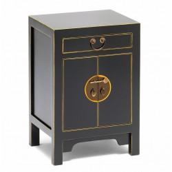 Hikina Black and Gilt Small Cabinet Angle