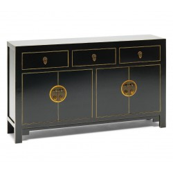 Hikina Black and Gilt Large Sideboard Angle