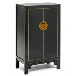 Hikina Black and Gilt Medium Cabinet Angle