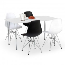 Eames style four person dining set