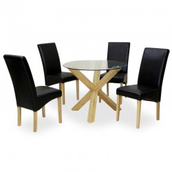 Romain designer four person dining set