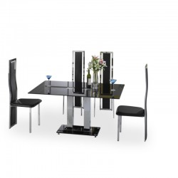 Sergio Black four person dining set