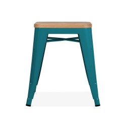 Teal natural wood