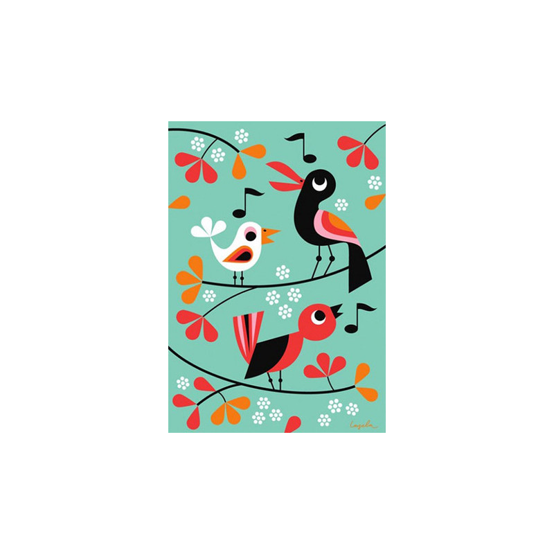 An image of Retro Bird Print