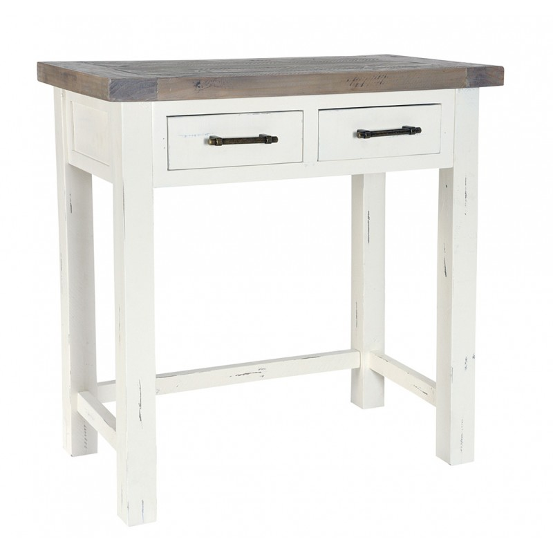 Reclaimed Wood Two Drawer Dressing Table