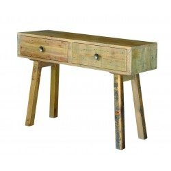 modern reclaimed wood console table