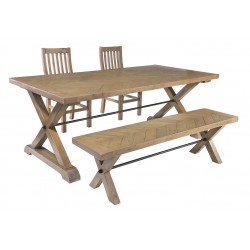 small bench reclaimed pine patterned bench