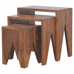 An image of Kolding Set of Three Cut Out Tables