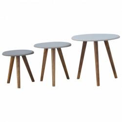 An image of Tonsberg Set of Three Tables Grey