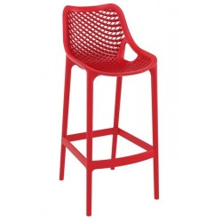 Dylan outdoor high stool in red