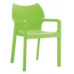 Monty Lime green armchair