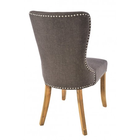 set of two upholstered fabric dining chairs