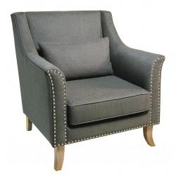 Modern and elegant fabric arm chair