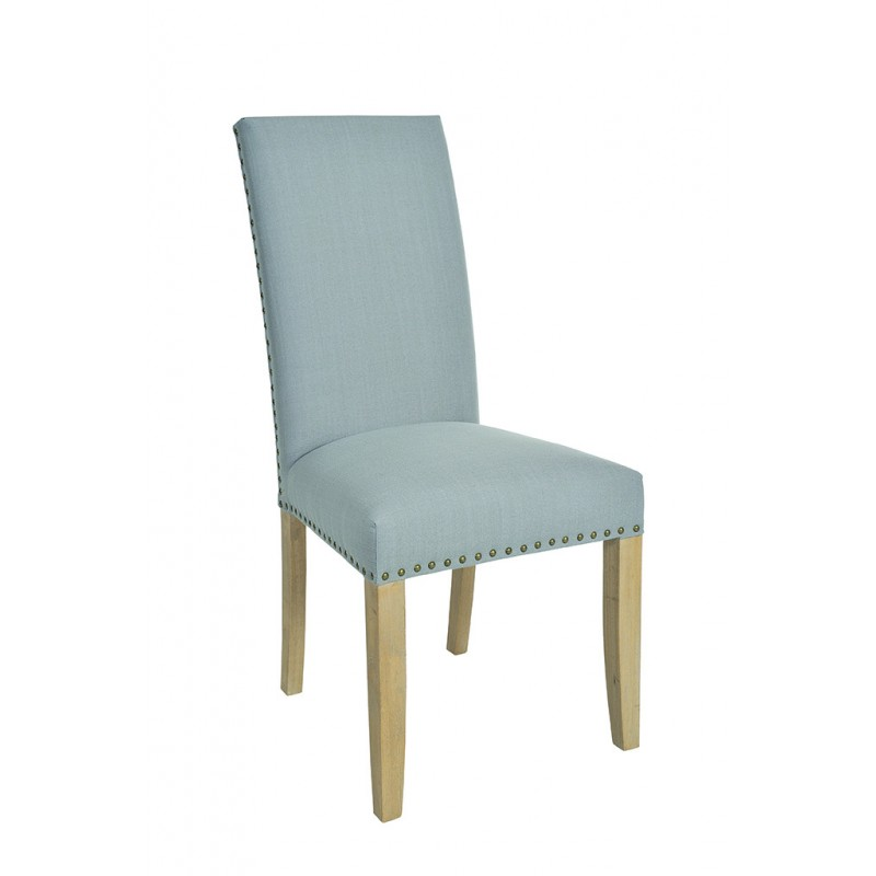 light grey upholstered fabric dining chair