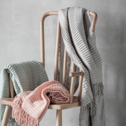 An image of Lily Contemporary Pleated Throw, Six Colour Choices Light Grey