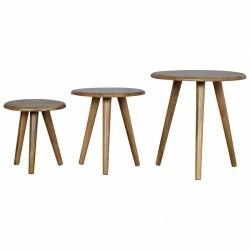 An image of Tonsberg Set of Three Tables Oak
